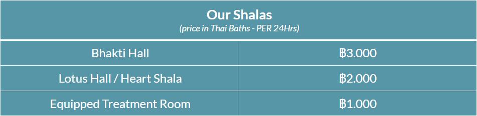 Shalas price